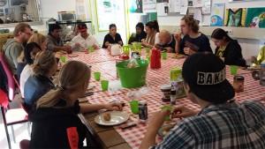 Gezamenlijke lunch bij Digg'Out